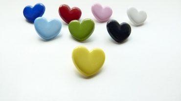 Botón Corazón Colores