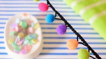 Pasamanería Pompones Colores