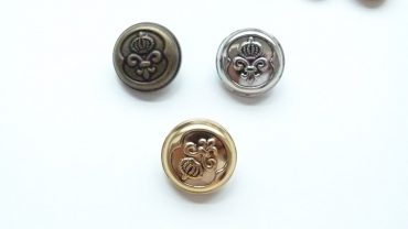 Botón Metal Flor De Lis