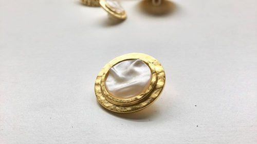 Boton Chanel Perla Estriada