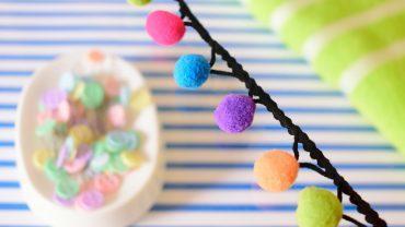 Tira Pompones Colores