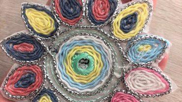 Flor Tricot Colores Pastel