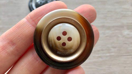 Botón Fantasía Bicolor Metal