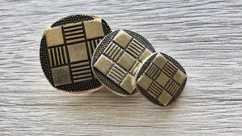 Botón Metal Cuadros