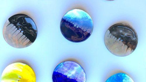 Botón Nacar Bicolor
