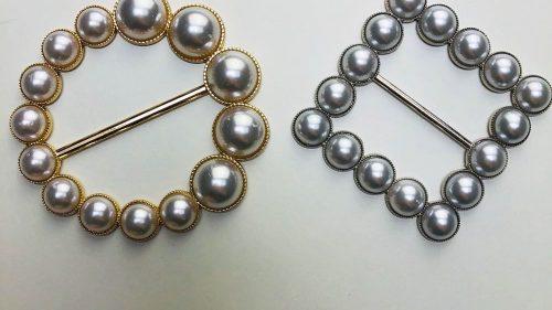 Hebilla Perlas & Oro