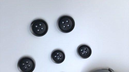 Boton Negro Plata