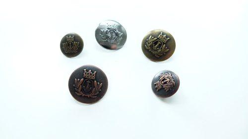 Botón Metal Ancla Corona