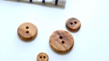 Botón Madera Eco Rústico Ondas 2 Agujeros