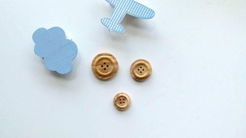 Botón Madera 4 Agujeros Círculo