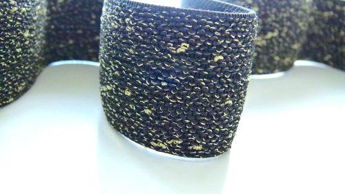 Goma Elástica Negra Con Chispas