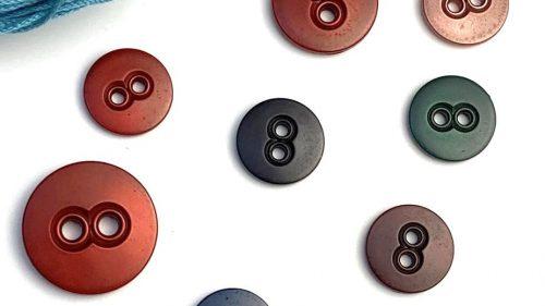 Botón Buho Colores