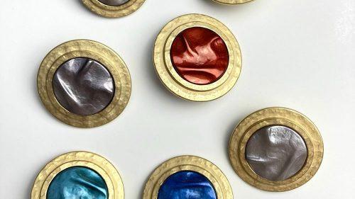 Botón Chanel Perla Estriada Colores