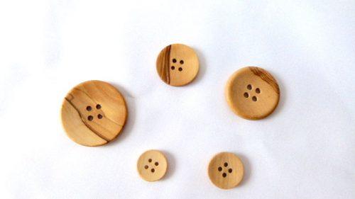Botón Madera Olivo 4 Agujeros