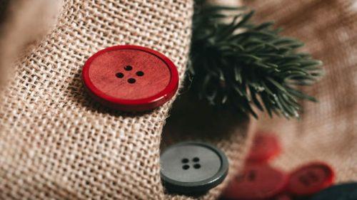 Botón Madera Navidad