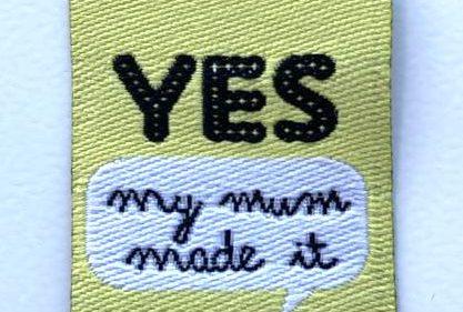 """Pegatina Termoadhesiva """" YES My Mum Made It"""""""