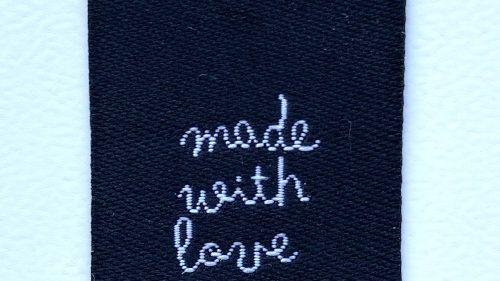 "Pegatina Termoadhesiva "" Made With Love """