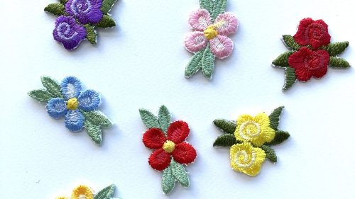 Pegatina Termoadhesiva Flor Colores